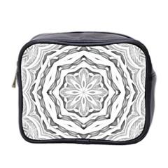 Mandala Pattern Floral Mini Toiletries Bag 2 Side