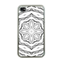 Mandala Pattern Floral Apple Iphone 4 Case (clear)