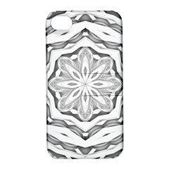 Mandala Pattern Floral Apple Iphone 4/4s Hardshell Case With Stand