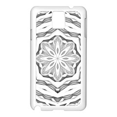 Mandala Pattern Floral Samsung Galaxy Note 3 N9005 Case (white)