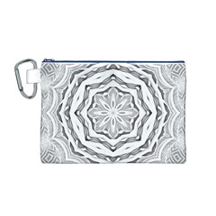 Mandala Pattern Floral Canvas Cosmetic Bag (m)