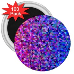 Triangle Tile Mosaic Pattern 3  Magnets (100 Pack)