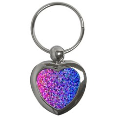 Triangle Tile Mosaic Pattern Key Chains (heart)