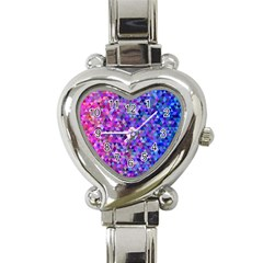 Triangle Tile Mosaic Pattern Heart Italian Charm Watch
