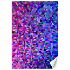 Triangle Tile Mosaic Pattern Canvas 12  X 18