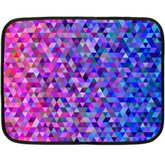 Triangle Tile Mosaic Pattern Double Sided Fleece Blanket (mini)