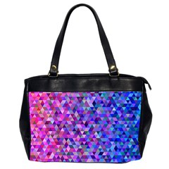 Triangle Tile Mosaic Pattern Office Handbags (2 Sides)