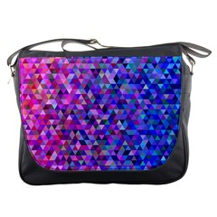 Triangle Tile Mosaic Pattern Messenger Bags