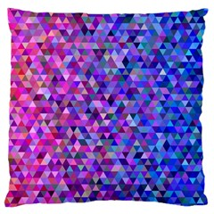 Triangle Tile Mosaic Pattern Large Cushion Case (one Side)