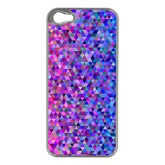 Triangle Tile Mosaic Pattern Apple Iphone 5 Case (silver)