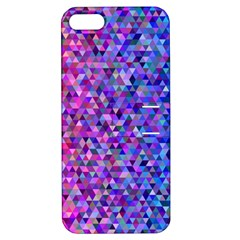 Triangle Tile Mosaic Pattern Apple Iphone 5 Hardshell Case With Stand