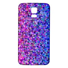 Triangle Tile Mosaic Pattern Samsung Galaxy S5 Back Case (white)