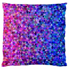 Triangle Tile Mosaic Pattern Large Flano Cushion Case (two Sides)
