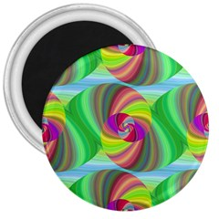 Seamless Pattern Twirl Spiral 3  Magnets