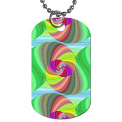 Seamless Pattern Twirl Spiral Dog Tag (two Sides)