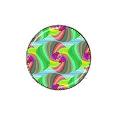 Seamless Pattern Twirl Spiral Hat Clip Ball Marker (10 Pack)