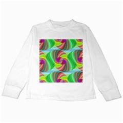 Seamless Pattern Twirl Spiral Kids Long Sleeve T Shirts