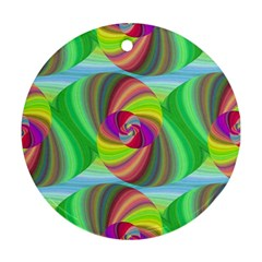 Seamless Pattern Twirl Spiral Round Ornament (two Sides)