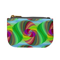 Seamless Pattern Twirl Spiral Mini Coin Purses