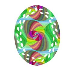 Seamless Pattern Twirl Spiral Oval Filigree Ornament (two Sides)