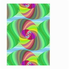 Seamless Pattern Twirl Spiral Small Garden Flag (two Sides)