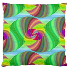 Seamless Pattern Twirl Spiral Large Cushion Case (two Sides)