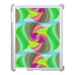 Seamless Pattern Twirl Spiral Apple Ipad 3/4 Case (white)