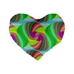 Seamless Pattern Twirl Spiral Standard 16  Premium Flano Heart Shape Cushions
