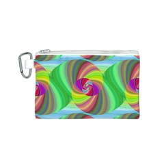 Seamless Pattern Twirl Spiral Canvas Cosmetic Bag (s)