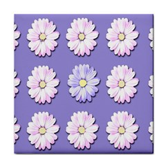 Daisy Flowers Wild Flowers Bloom Tile Coasters