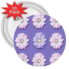 Daisy Flowers Wild Flowers Bloom 3  Buttons (10 Pack)