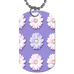 Daisy Flowers Wild Flowers Bloom Dog Tag (one Side)