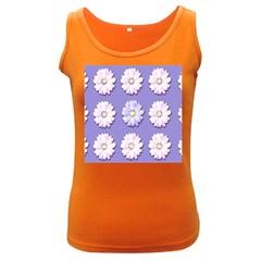 Daisy Flowers Wild Flowers Bloom Women s Dark Tank Top