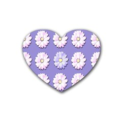 Daisy Flowers Wild Flowers Bloom Heart Coaster (4 Pack)