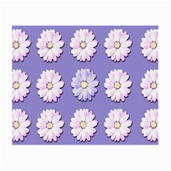 Daisy Flowers Wild Flowers Bloom Small Glasses Cloth (2 Side)