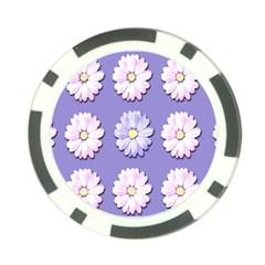 Daisy Flowers Wild Flowers Bloom Poker Chip Card Guard