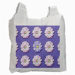 Daisy Flowers Wild Flowers Bloom Recycle Bag (two Side)