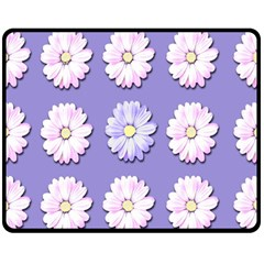 Daisy Flowers Wild Flowers Bloom Fleece Blanket (medium)