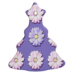 Daisy Flowers Wild Flowers Bloom Christmas Tree Ornament (two Sides)