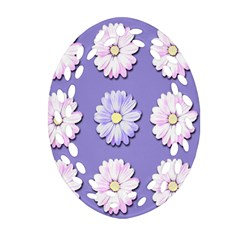 Daisy Flowers Wild Flowers Bloom Oval Filigree Ornament (two Sides)