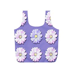 Daisy Flowers Wild Flowers Bloom Full Print Recycle Bags (s)