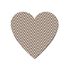 Chevron Retro Pattern Vintage Heart Magnet