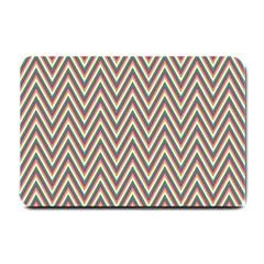 Chevron Retro Pattern Vintage Small Doormat