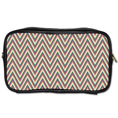 Chevron Retro Pattern Vintage Toiletries Bags 2 Side