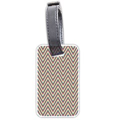 Chevron Retro Pattern Vintage Luggage Tags (one Side)