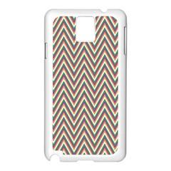 Chevron Retro Pattern Vintage Samsung Galaxy Note 3 N9005 Case (white)