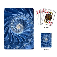 Blue Fractal Abstract Spiral Playing Card