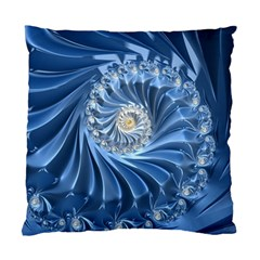 Blue Fractal Abstract Spiral Standard Cushion Case (two Sides)