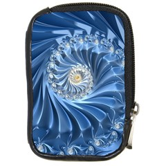 Blue Fractal Abstract Spiral Compact Camera Cases