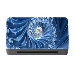 Blue Fractal Abstract Spiral Memory Card Reader With Cf